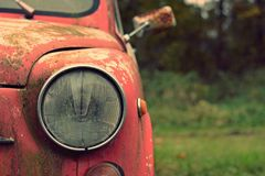 Nice old car in with retro effect Royalty Free Stock Photos