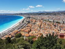 NICE old city from the castle hill. A they of the old city of  Nice, France Stock Images