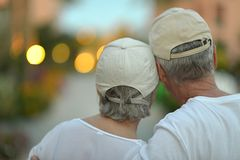 Nice old couple Royalty Free Stock Photography
