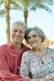 Nice old couple Stock Photo