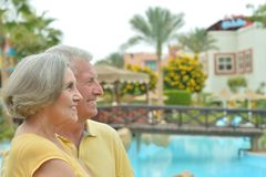 Nice old couple Stock Photography