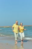 Nice old couple at resort Royalty Free Stock Photo