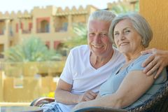 Nice old couple Stock Photos