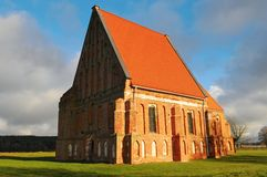 Nice Old Early Gothic Church. Zapyskis, Kaunas County, Lithuania Stock Photography