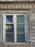Beautiful old home window, Latvia royalty free stock images