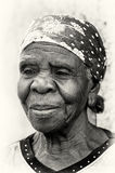 Nice old lady from Ghana Royalty Free Stock Photography