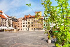 Nice old marketplace square in Warsaw Stock Images