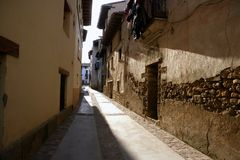 Nice old village from Spain, beam of light Royalty Free Stock Photo