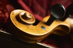Old violin in nice case Stock Images