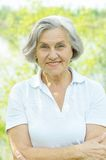 Nice old woman Stock Photography