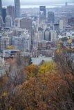 Montreal city in autumn Quebec, Canada stock image