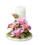 Orchid flower candle isolated  Royalty Free Stock Images