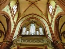 Beautiful organ in old church, Lithuania Stock Photo