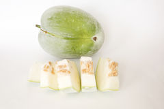 Nice organic winter melon Royalty Free Stock Images