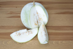 Nice organic winter melon on table Stock Photography