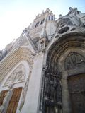 A nice ornated church facade in Nancy Saint Epvre. royalty free stock images
