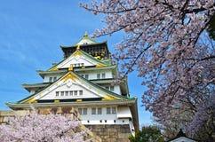 Nice Osaka Castle in Sakura Stock Image
