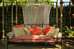 Nice outdoor couch stock photos