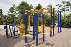 Nice outdoor gym background Stock Photos