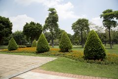 Nice outdoor landscapes design in Ersha Island Guangzhou. Outdoor landscapes design in city Guangzhou Ersha Island park ,Guangdong province China Asia Royalty Free Stock Photos