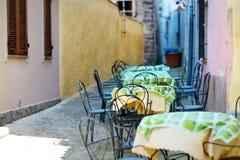 Nice outdoor restaurant Stock Photography