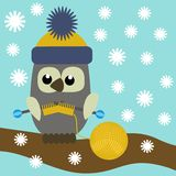 Nice owl knitting Royalty Free Stock Photography