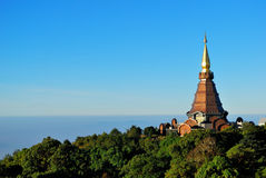 Nice Pagoda with Blue Sky at Thailand Royalty Free Stock Photo
