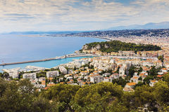 Nice panorama seen from Mt Boron Stock Image