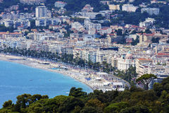 Nice panorama seen from Mt Boron Stock Photography