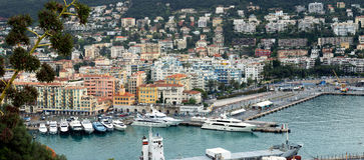 Nice - Panoramic view of Port de Nice Stock Image
