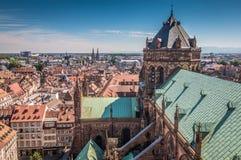 Nice Panoramic view of Strasbourg France stock photos