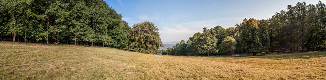 Nice panoramic view to Danube. From St.Stephens Field, Pilis, Hungary Royalty Free Stock Image