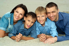 Nice parents and children Royalty Free Stock Photography