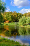 Nice park in autumn Royalty Free Stock Photo