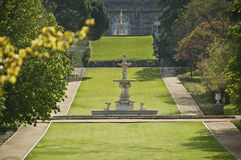 Nice park in Madrid. With the Royal Palace Stock Image