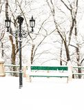 Nice park in winter Royalty Free Stock Photo
