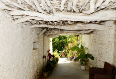A nice passage to a back garden at Sisi, Crete Stock Photo
