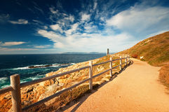 Nice pathway at the coast Royalty Free Stock Photos
