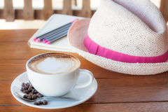 Nice and peace time for coffee Royalty Free Stock Photo