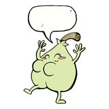 A nice pear cartoon with speech bubble Royalty Free Stock Image