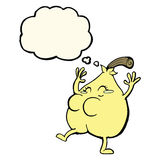 A nice pear cartoon with thought bubble Stock Photo