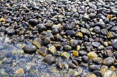 Nice pebble on island Stock Images