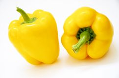 Nice peppers. Two peppers royalty free stock photography