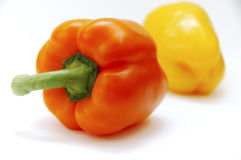 Nice peppers. Two peppers stock photography