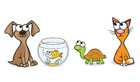 Nice pets. Vector illustration of pets for a pet-shop royalty free illustration