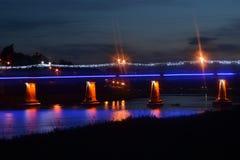 Bridge at night time. Nice photo of bridge at night time stock photography