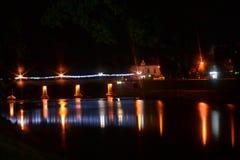 Bridge at night time. Nice photo of bridge at night time stock photos