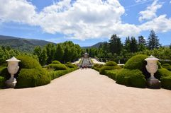 Nice Photo Of The Central Fountain Of The Gardens Of The Farm. Art History Biology. June 19, 2018. La Granja Segovia Spain stock images