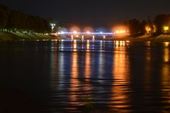 River at night time. Nice photo of river at night time royalty free stock image