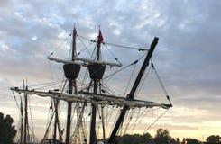 Vintage pirate ship photo. Nice photo of vintage pirate ship stock photography